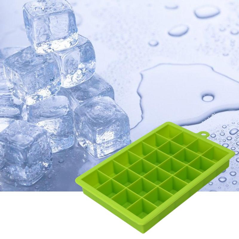 24 Grid Ice Cube Tray Silicone Ice Cube Maker Mold For Ice Cream Party Whiskey Wine Bar Drinking Cocktail Drink Fruit Popsicle