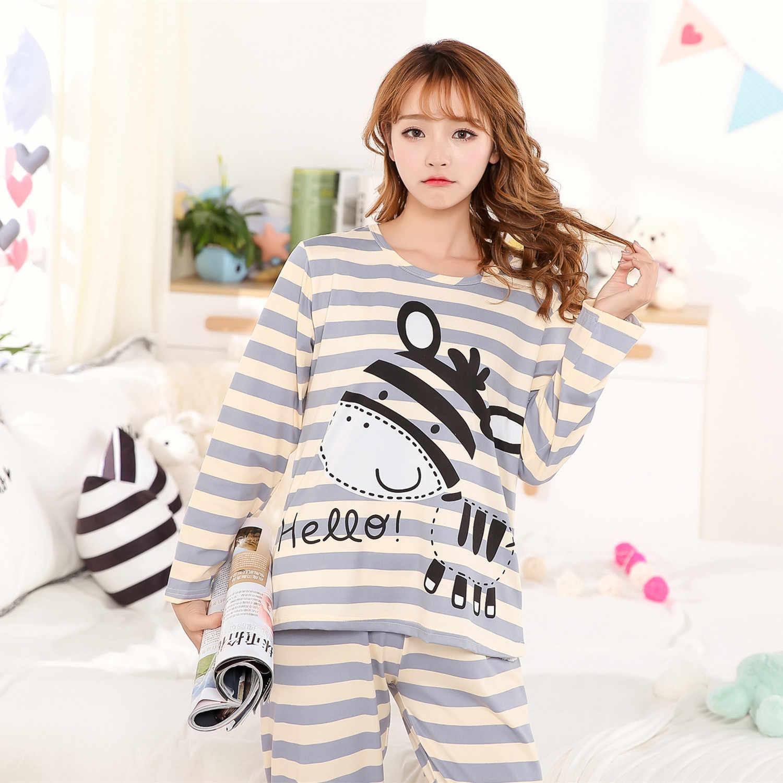 ... Пижама Для женщин пижамы на осень и зиму костюм мягкие пижамы женские Длинные  рукава Домашняя одежда ... bef5c692e3f35