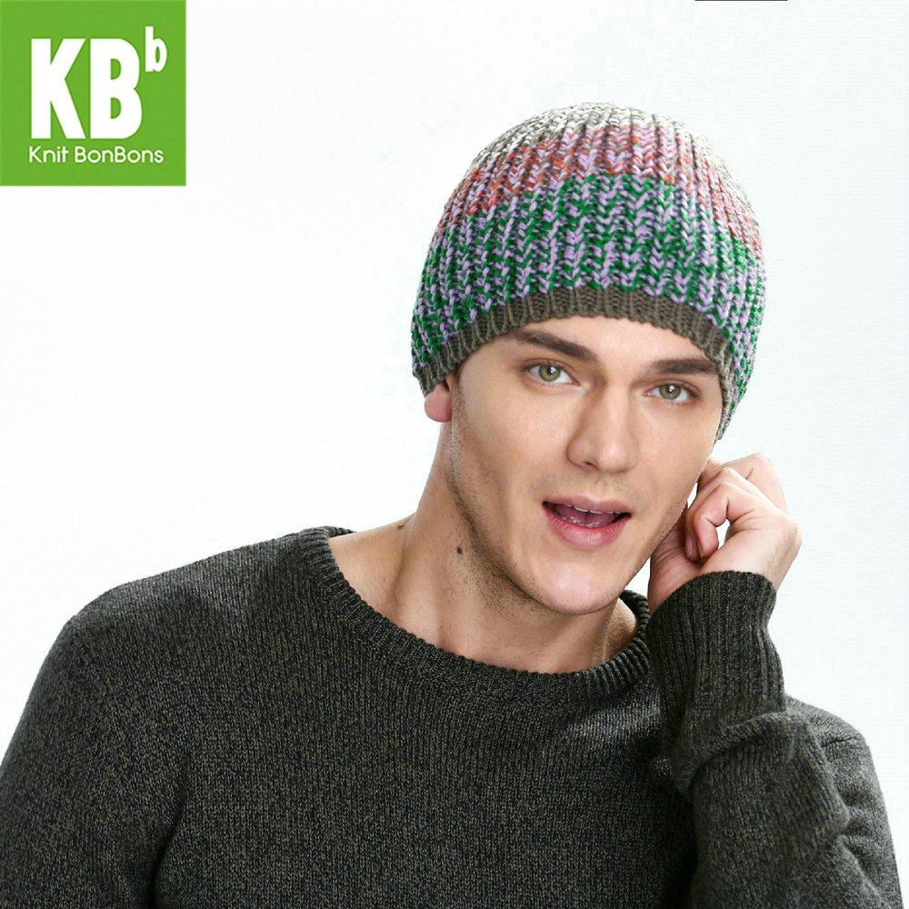 2018 KBB primavera invierno nuevo estilo cómodo rojo croquet trenza diseño  Hilado punto delicado sombrero de invierno Beanie para hombres mujeres e0f87d44899