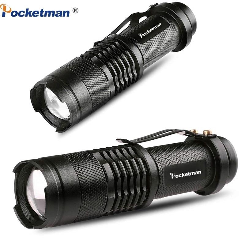 Ultra Bright Portable LED Flashlight L2 T6 Linterna Adjustable Focus Small For Kids Child Camping Emergency Torch Light