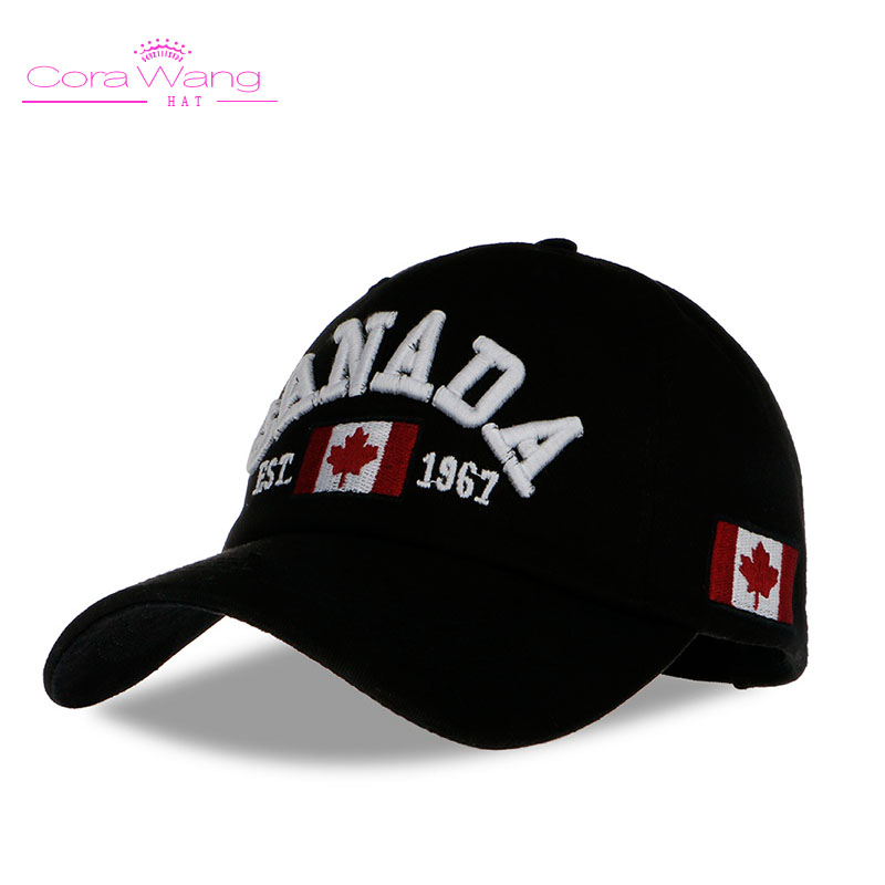 New Arrival Cotton Gorras Canada Baseball CapBA378 Flag Of Canada Hat Snapback Adjuatable Mens Baseball Caps Brand New For Adult mens male beret retro cotton visor gorras planas hat cabbie ivy cap