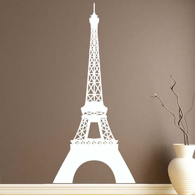 Landmark Eiffel Tower Wall Sticker Removable Vinyl Waterproof Paris Home  Decor Wall Decals