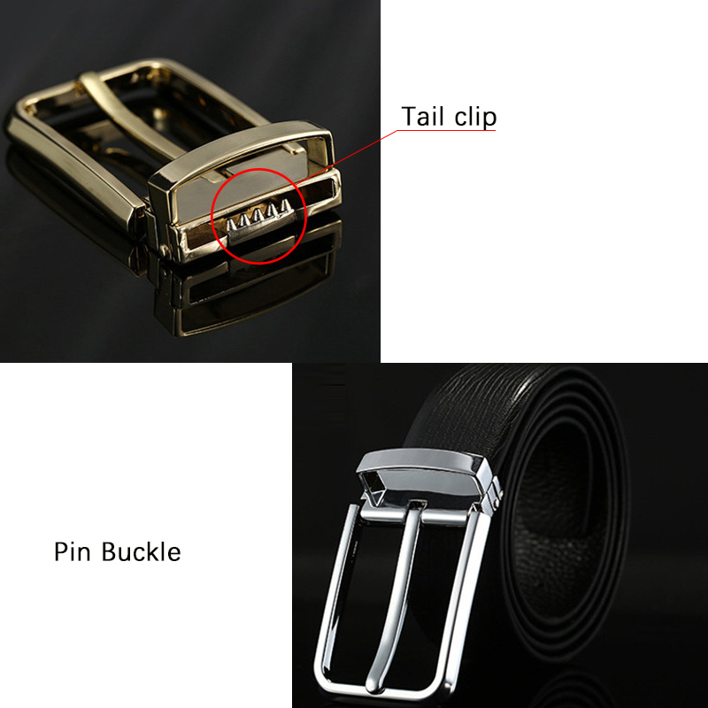 Cow Leather Belts Casual Alloy Pin Buckle Genuine Leather Business Soft Men 39 s Belt Luxury Brand Rectangle Gold Sliver Male Belts in Men 39 s Belts from Apparel Accessories
