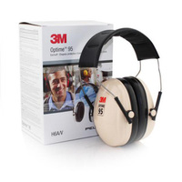 3M Peltor Anti Noise Over The Head Earmuffs Professional Ear Protection Hearing Conservation H6A V Stainless