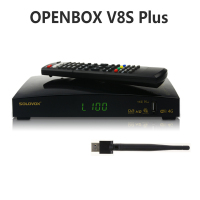Openbox Satellite Receiver V8S Plus DVB S2 Digital Support Xtream Portugal Spain Youtube USB Wifi DVB S2 support cccam server
