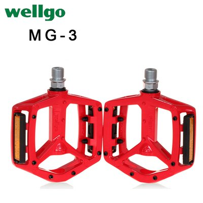 "Wellgo MG-3 9//16/"" Magnesium Pedal for MTB and Road Bike Black"