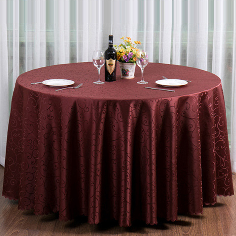 Round Red Coffee Table: 10pc/lot Luxious Restaurant Table Cloth For Round Table