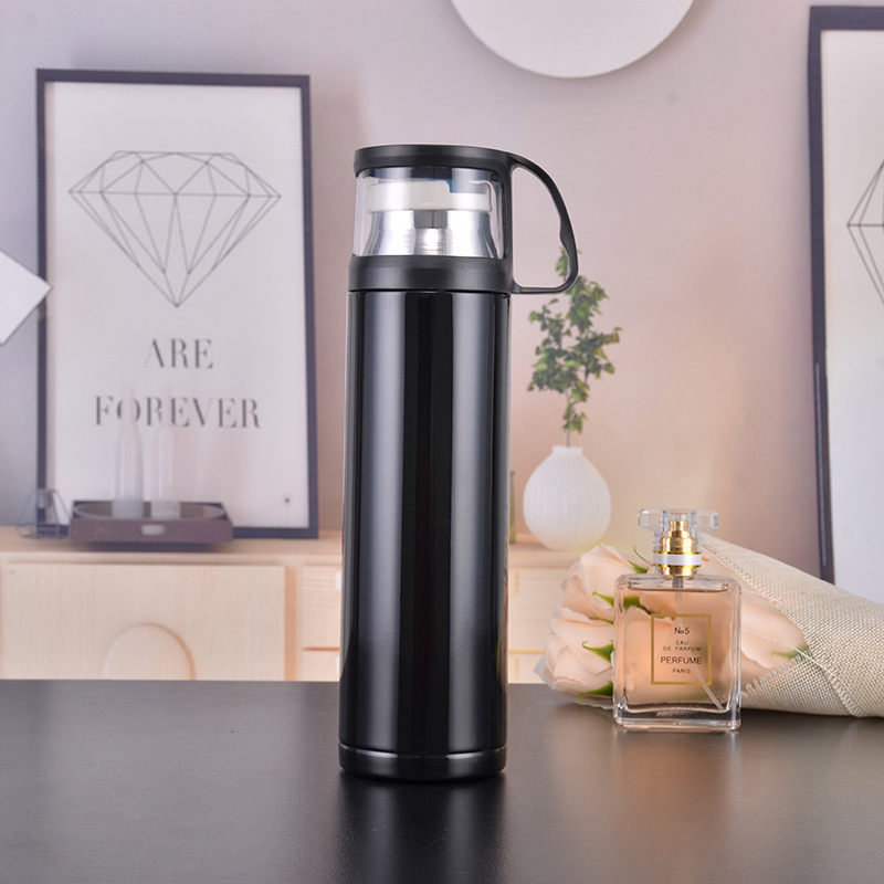 New 500ml travel cup stainless steel thermos double wall vacuum cup coffee beverage bottle manufacturers direct sales in Vacuum Flasks Thermoses from Home Garden