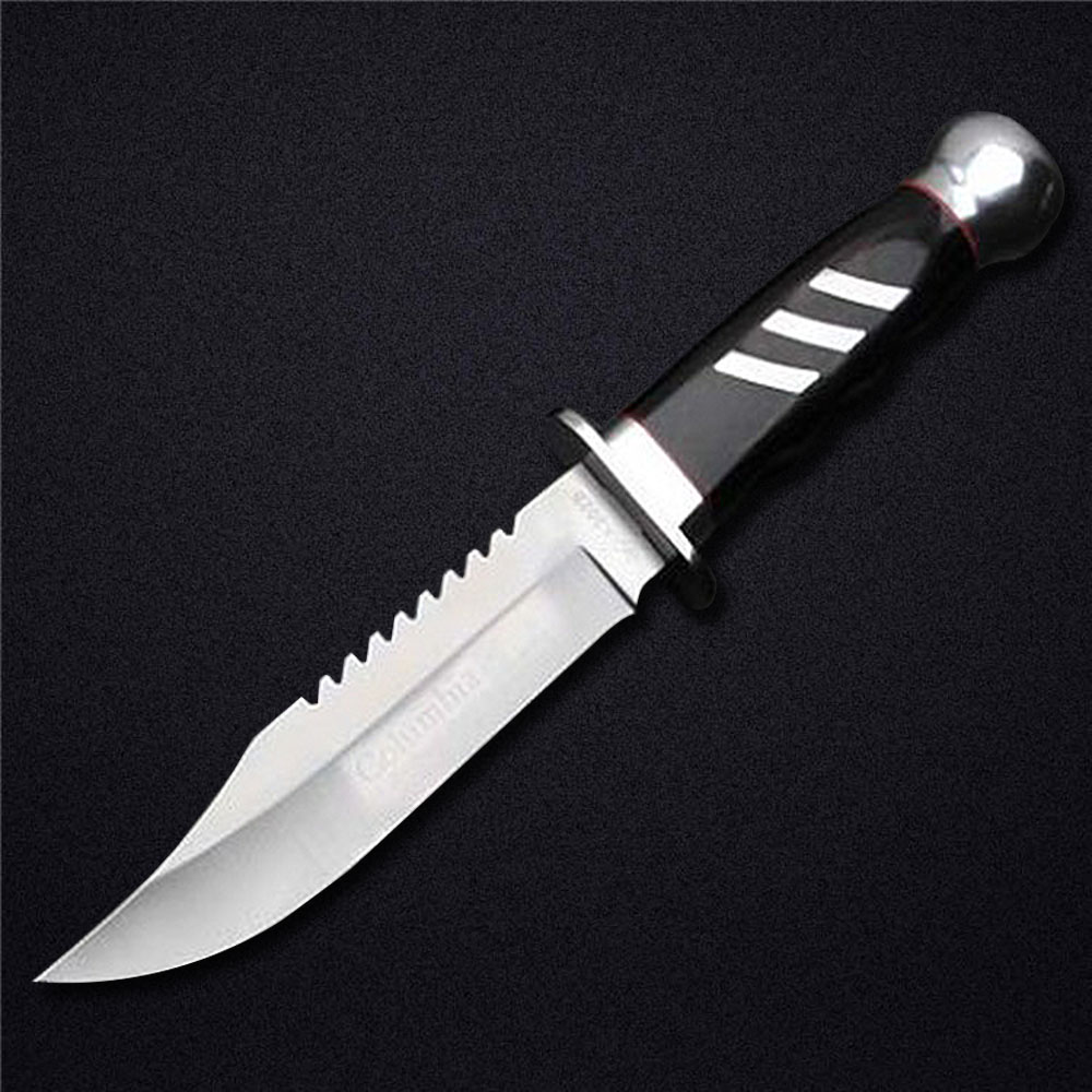 New Fixed Blade font b Knife b font 5Cr13Mov Mirror Stainless Steel 57HRC Hardness font b
