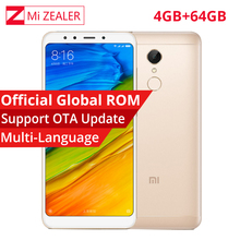 "Global Rom Support OTA Xiaomi Redmi 5 Plus 4GB 64GB Mobile Phone 18:9 Full Screen Snapdragon 625 Octa Core 5.99"" 4000mAh 12.0MP(China)"