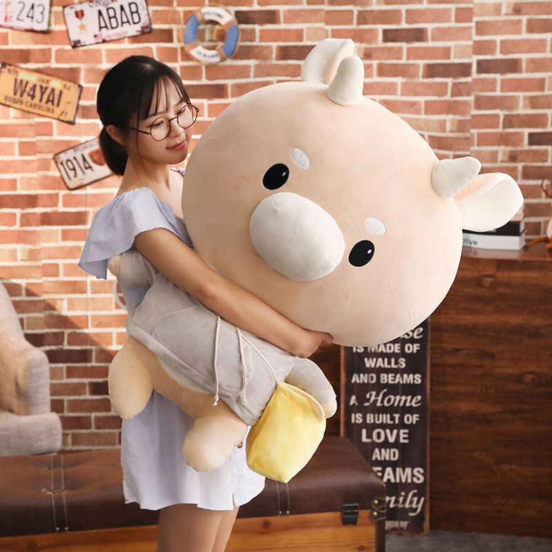 1pc Giant TV Lovely Whats Wrong With Secretary Kim Hard caw Pet Doll Plush Korean Drama Cow Stuffed Child Kid Toy Birthday Gift image