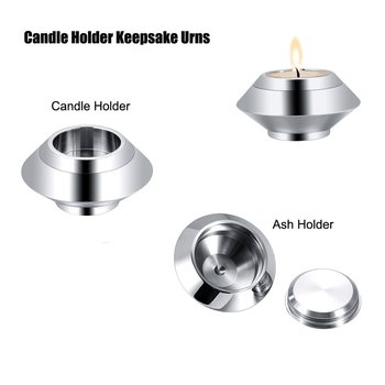 onstantlife Stainless Steel Votive Candle Holder Urns for Ashes Keepsake Cremation Urns for Human Ashes Small Size