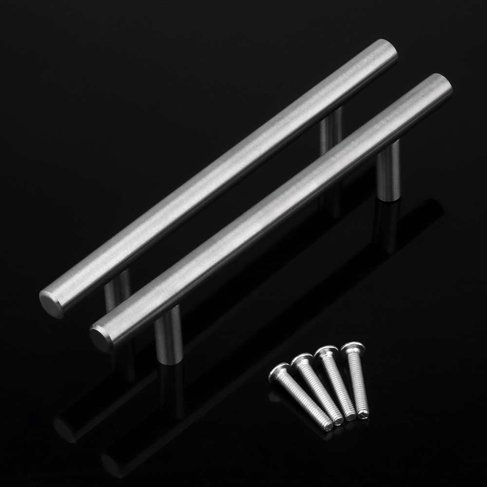 Image 3 - 20Pcs Modern Furniture Handles Kitchen Cabinet T Pulls Handles knobs Stainless Steel Handles For FurnitureCabinet Pulls   -