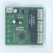 青梅 3 ポートスイッチモジュール PCBA 4 ピンヘッダ UTP PCBA モジュール led ディスプレイネジ穴ポジショニングミニ PC データの Oem 工場
