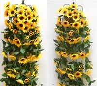 Festa de ano novo decoração decoração de casamento decorações de girassol flores artificiais home decor