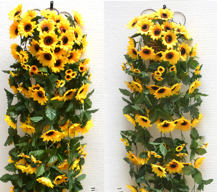 new year party decoration wedding decoration sunflower artificial flowers decorations home decor - Sunflower Decorations