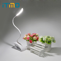 Desk Lamp With Clip Fixtures Book Reading Lamp Table Touch Light USB Charging 3 Mode Flexible