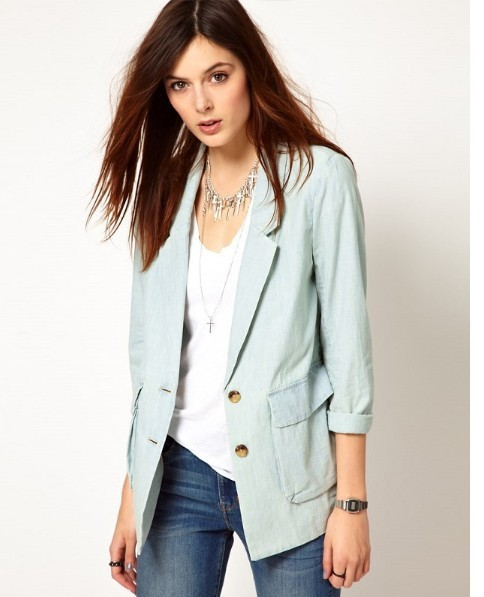 8c75167844f9d US $28.99 |new arrived!fashion lady Fall Western style clothes /fashion  girls denim jacket/ladies suits/wholesale-in Blazers from Women's Clothing  on ...