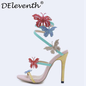 b1d97b1e9176cb DEleventh Shoes Summer Sandals High Heels Woman Ladies