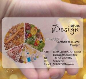 Image 4 - Lote de 1000 unidades de tinta blanca personalizada, Impresión de tarjetas de visita de plástico PVC transparente esmerilado a medida