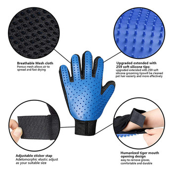 Dog Pet Grooming Glove Silicone Cats Brush Comb Deshedding Hair Gloves Dogs Bath Cleaning Supplies Animal Combs by PROSTORMER 6
