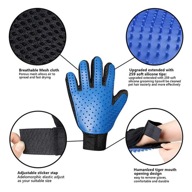 Pet Grooming De-shedding Glove  6