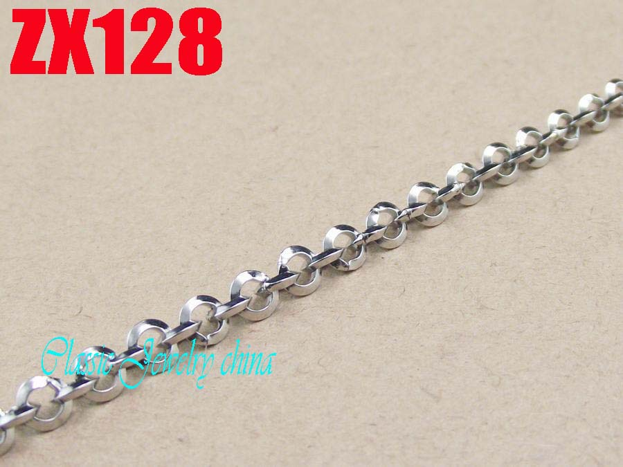 50 meters stainless steel  chain 4mm ladder-shaped round rolo chain women male fashion necklace chains  ZX128