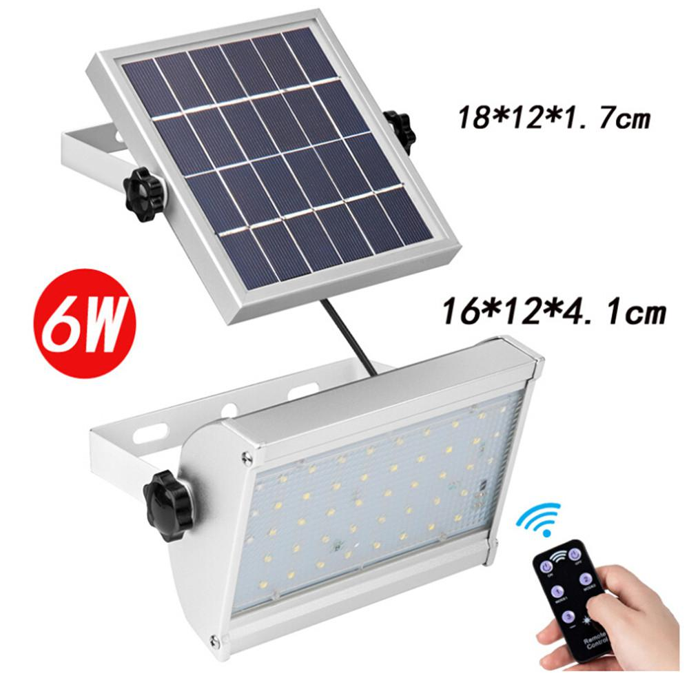 6 W12 W30 W Lâmpada Solar Night