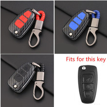 Carbon Fiber Shell Car Remote Key Cover Case For Ford Focus Fiesta Kuga C-Max Galaxy Ranger S-Max