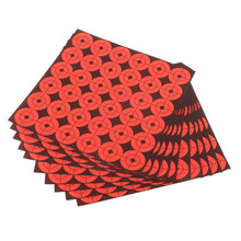 "10pcs 1"" Round Adhesive Shooting Targets - Target Dots - Fluorescent Orange Archery Training Paper Targets(China)"