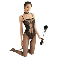See Through Lace Sexy Lingerie Women One Piece Babydoll Ladies Sleepwear Sexy Erotic Costumes Babydoll asymmetric see through babydoll