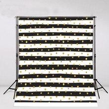 Polka dots ouro branco e preto listrado Fundos para venda de Vinil cenários de pano de parede de Alta qualidade de impressão Computador