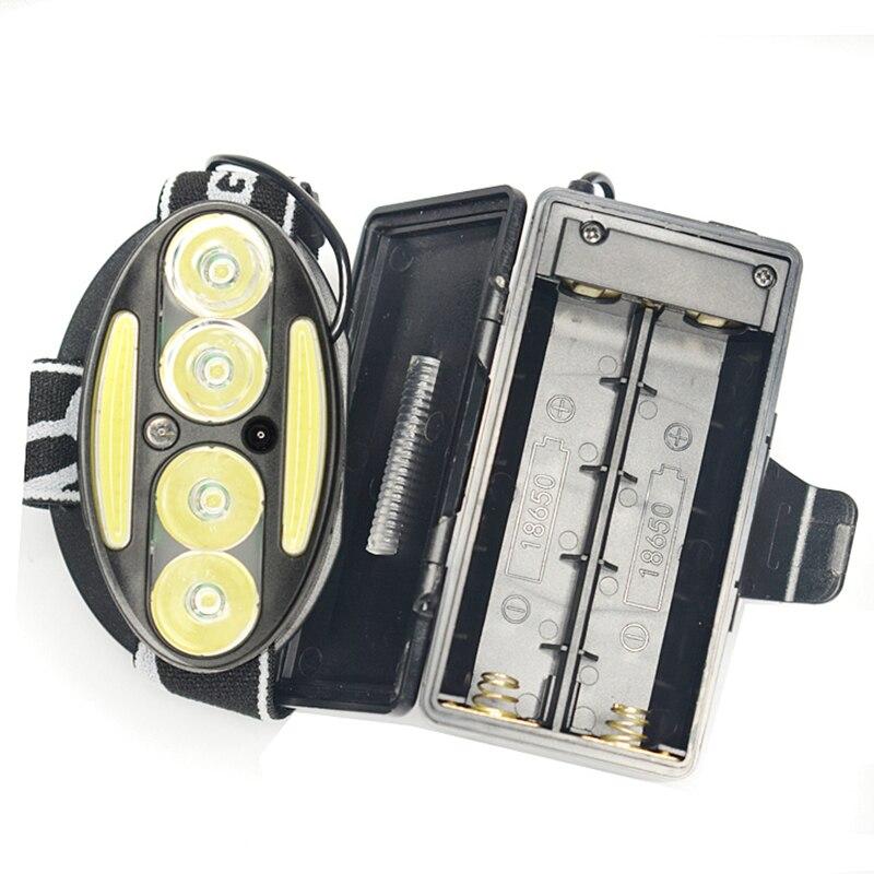 USB Rechargeable Flashlight Headlight 12