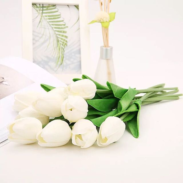 Artificial Tulip Flowers – Real Touch Bouquet Flowers For Home Decoration