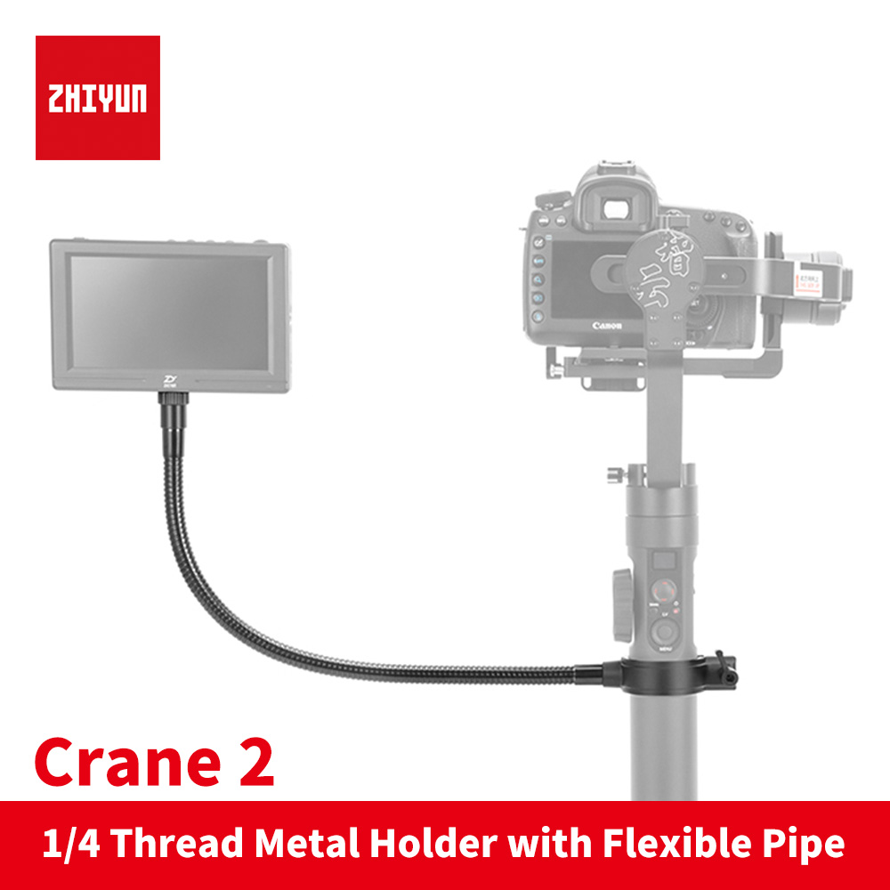 Zhiyun Crane 2 handle camera gimbal accessories 1/4 Thread Metal Holder with Flexible Magic Arm Clamp for Video Monitor Light