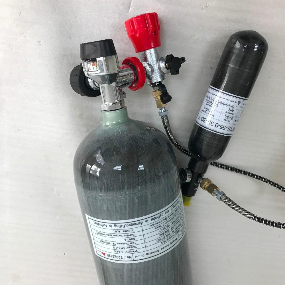 Acecare Paintball réservoir carbone PCP force aérienne condor haute pression cylindre réservoir de plongée 300bar mini réservoir d'air réservoir de plongée AC109201