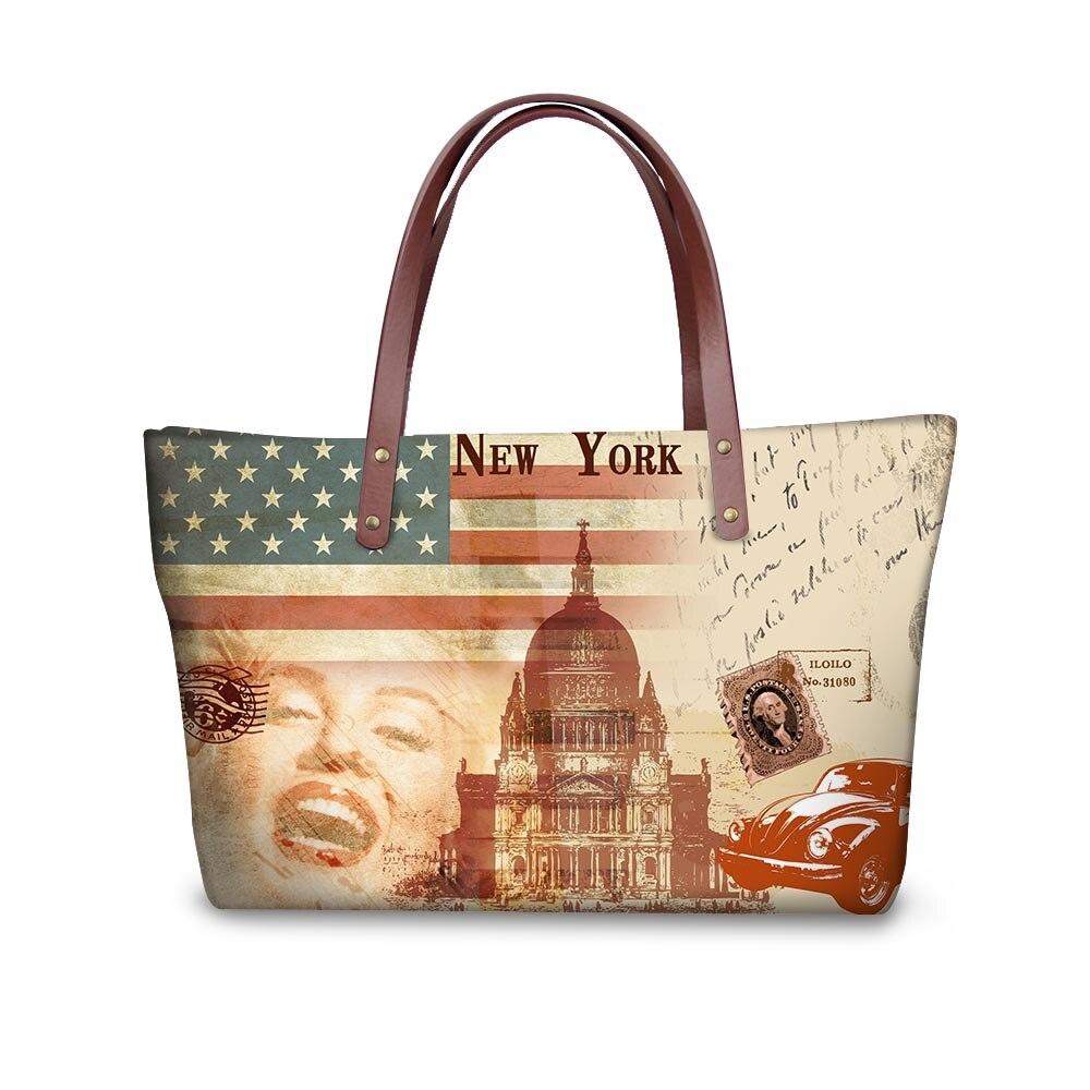 Noisydesigns build Retro Designer Waterproof women handbags Ladies Shoulder Bags Girls Shopping Tote Waterproof Travel Bags