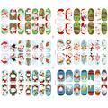 Для женщин наклейки для ногтей s Клаус Рождество Маникюр Санта Узор лист книги по искусству салон гвозди стикеры DIY Украшение для ногтей - фото