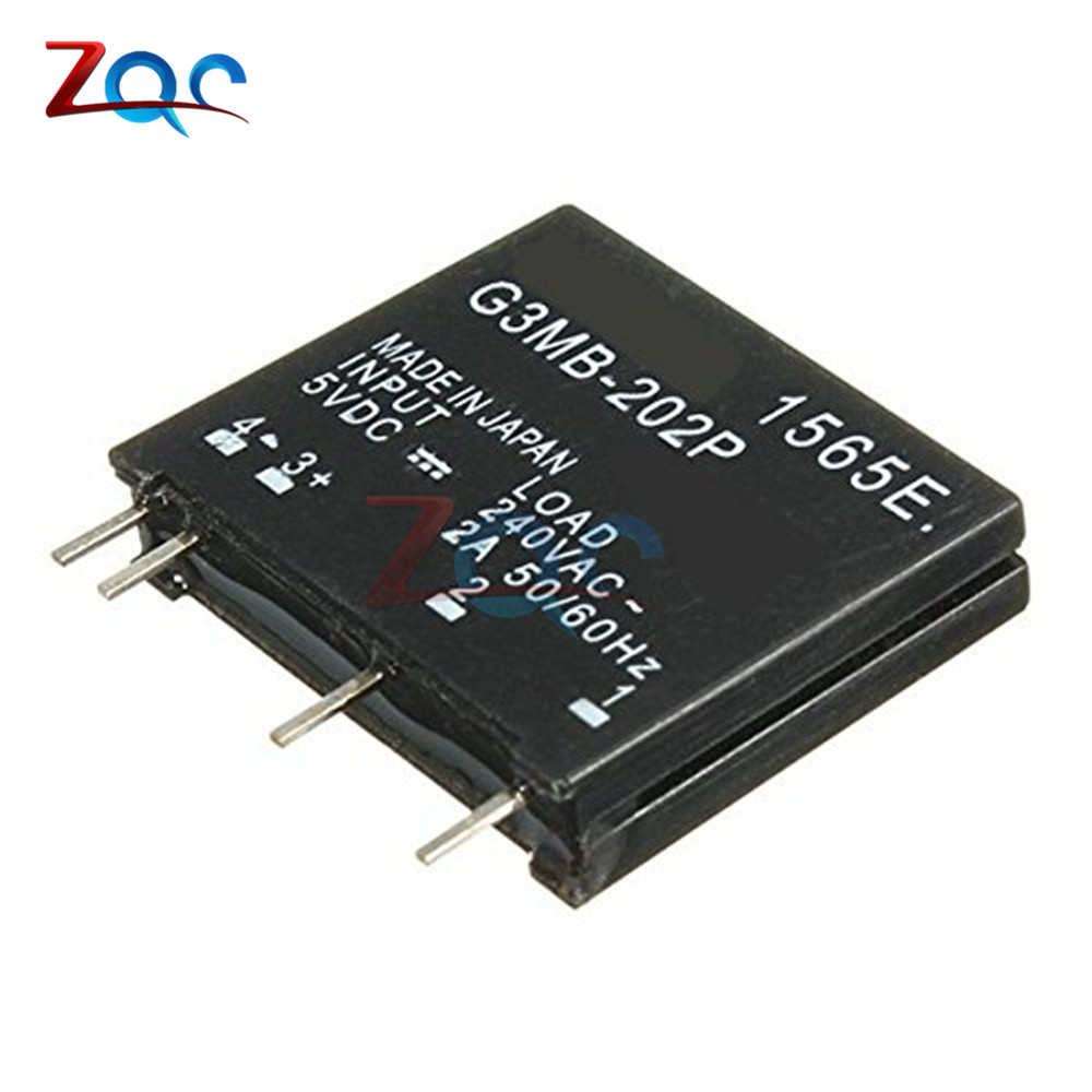 5PCS Relay Module G3MB-202P G3MB 202P DC-AC PCB SSR In 5V DC Out 240V AC 2A Solid State Relay Module smart electronics original solid state relay g3mb 202p dc ac pcb ssr in 5vdc out 240v ac 2a