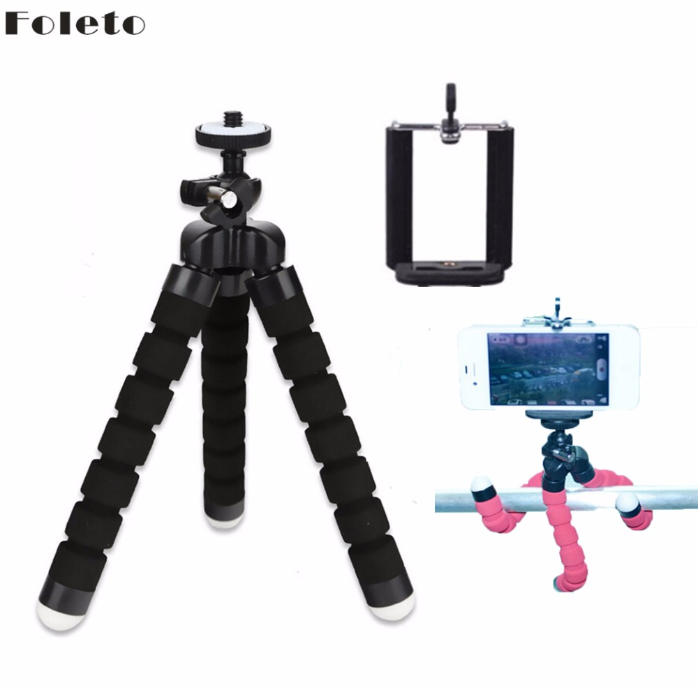 Flexible Octopus Tripod With Phone Holder Portable Light Weight Mini Tripod for Canon Nikon Nony Nex digital Camera phone 6 6s fotopro rm 100 octopus style flexible mini tripod w head for digital camera blue