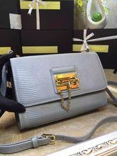 2016 new winter leather Crossbody Bag Lady blue fashion leather handbag