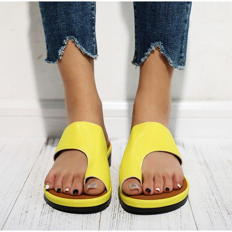 HTB1murIaECF3KVjSZJnq6znHFXa9 MCCKLE Women Comfy Plain Shoes Flat Platform Ladies Casual Big Toe Foot Correction Sandals Orthopedic Bunion Corrector Flip Flop