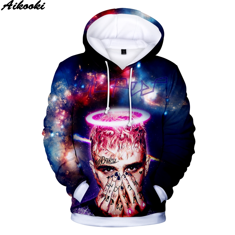 Aikooki Lil Peep 3D Hoodies Sweatshirts Men/Women Fashion Hip Hop Hoodies Lil Peep Sweatshirts Hot Sale 3D Hoodie Plus Size