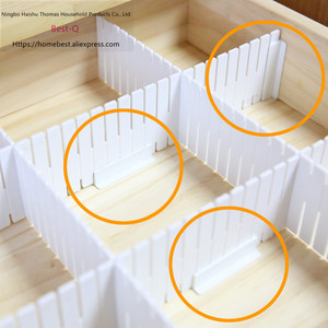 Image 4 - Free shipping Free combination drawer partition / finishing grid / drawer separator / storage partition / plastic partition