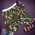 Бесплатная доставка плюс размер мужской Камуфляж пляж шорты эластичный пояс ремень колен 100% хлопок Повседневная короткие брюки бренд 2xl-8xl