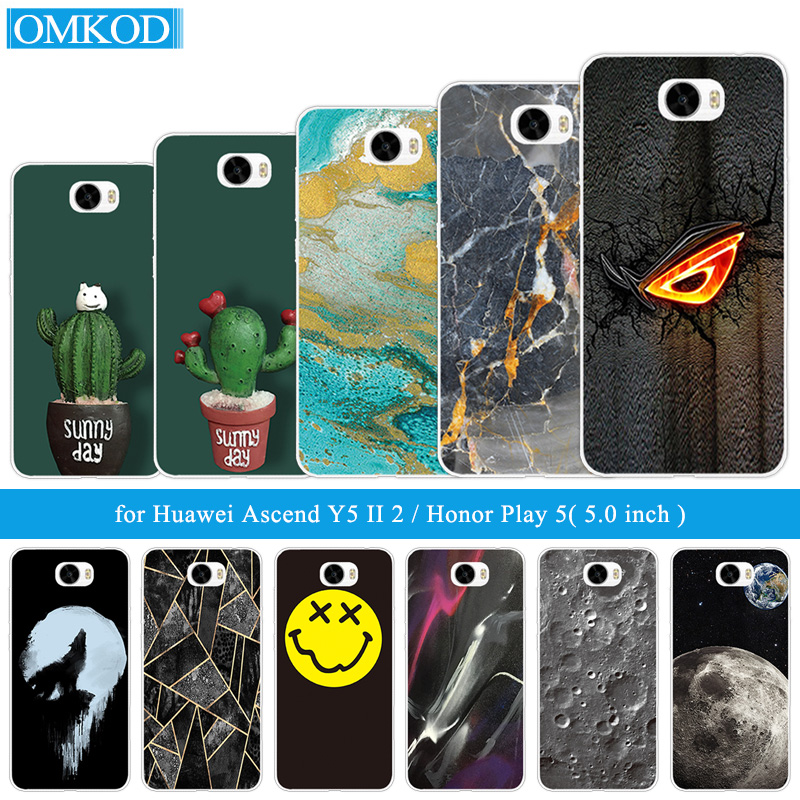for huawei y5 ii case 5.0 Cover for Huawei Honor 5A Cactus Phone Case Soft TPU Silicon fundas For Huawei y5ii Y5 2 Phone Capa