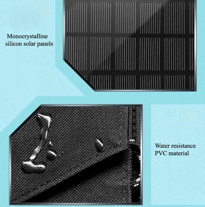 Water resistant solar panel