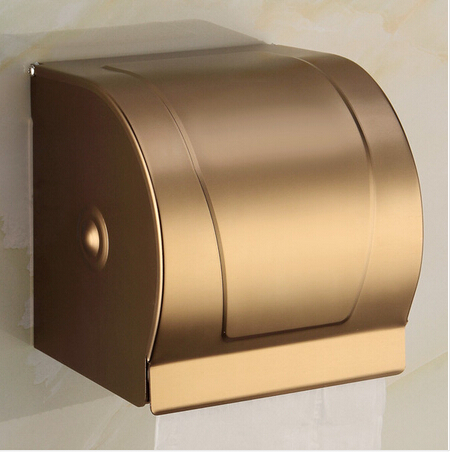 Antique paper holder bathroom tissue box Paper roll holder waterproof Aluminum toilet paper box toilet paper holder space aluminum paper holder roll tissue holder hotel works toilet roll paper tissue holder box waterproof design