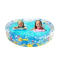 152*30CM Kids Inflatable Swimming Pool Marine Ball Pool Hard Rubber Round Infant Tub