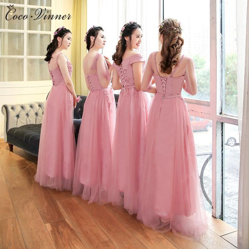 Asombroso Rosa Vestidos De Dama De Color Púrpura Modelo - Ideas de ...